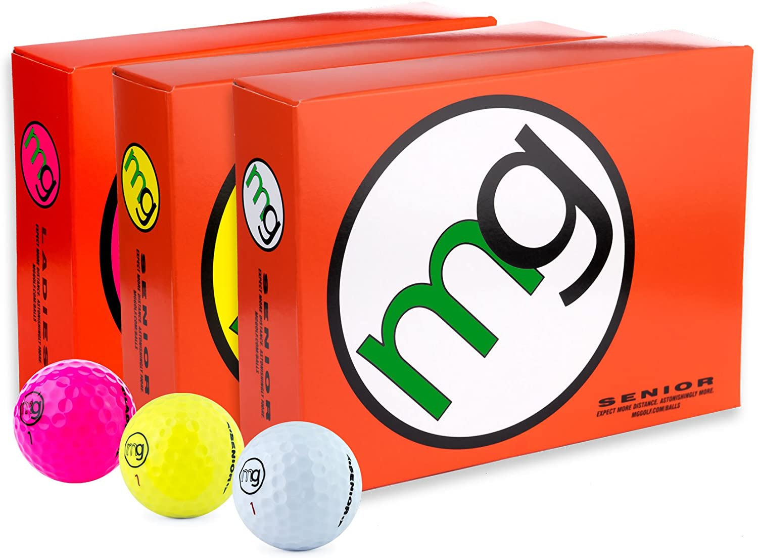 MG Golf Balls for Seniors (dozen)