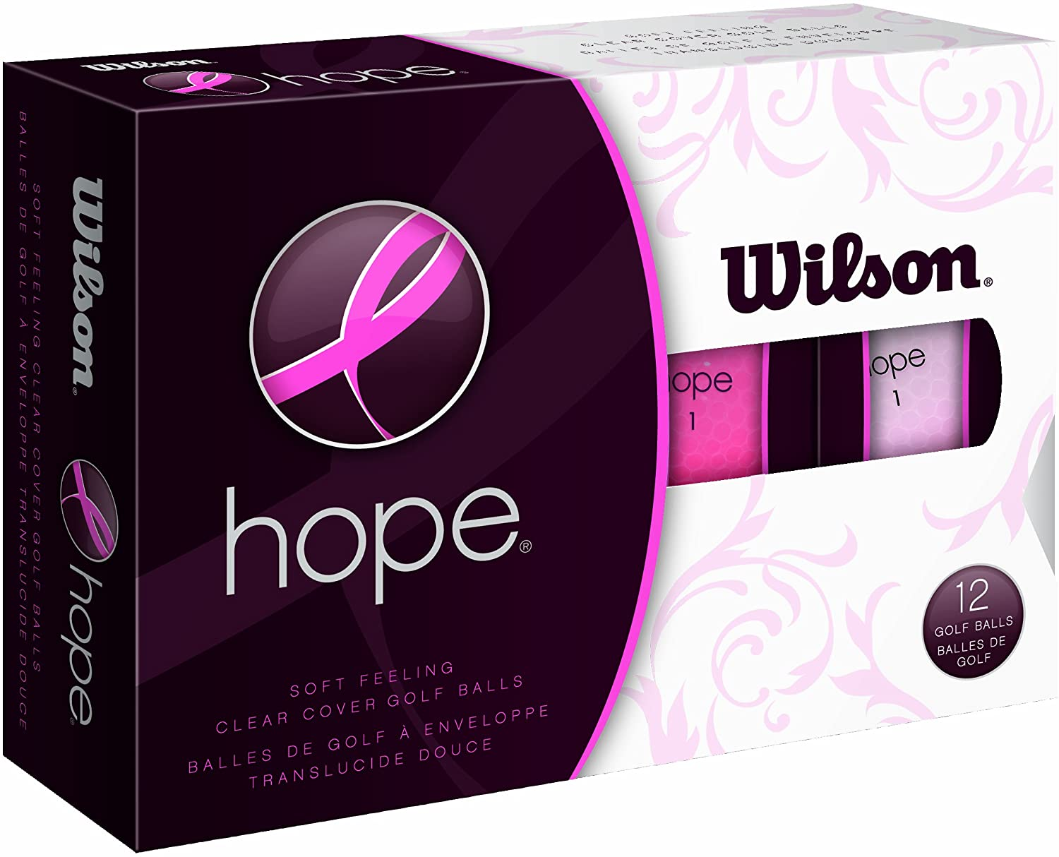 Wilson Hope 12 Ball Ladies Golf Balls