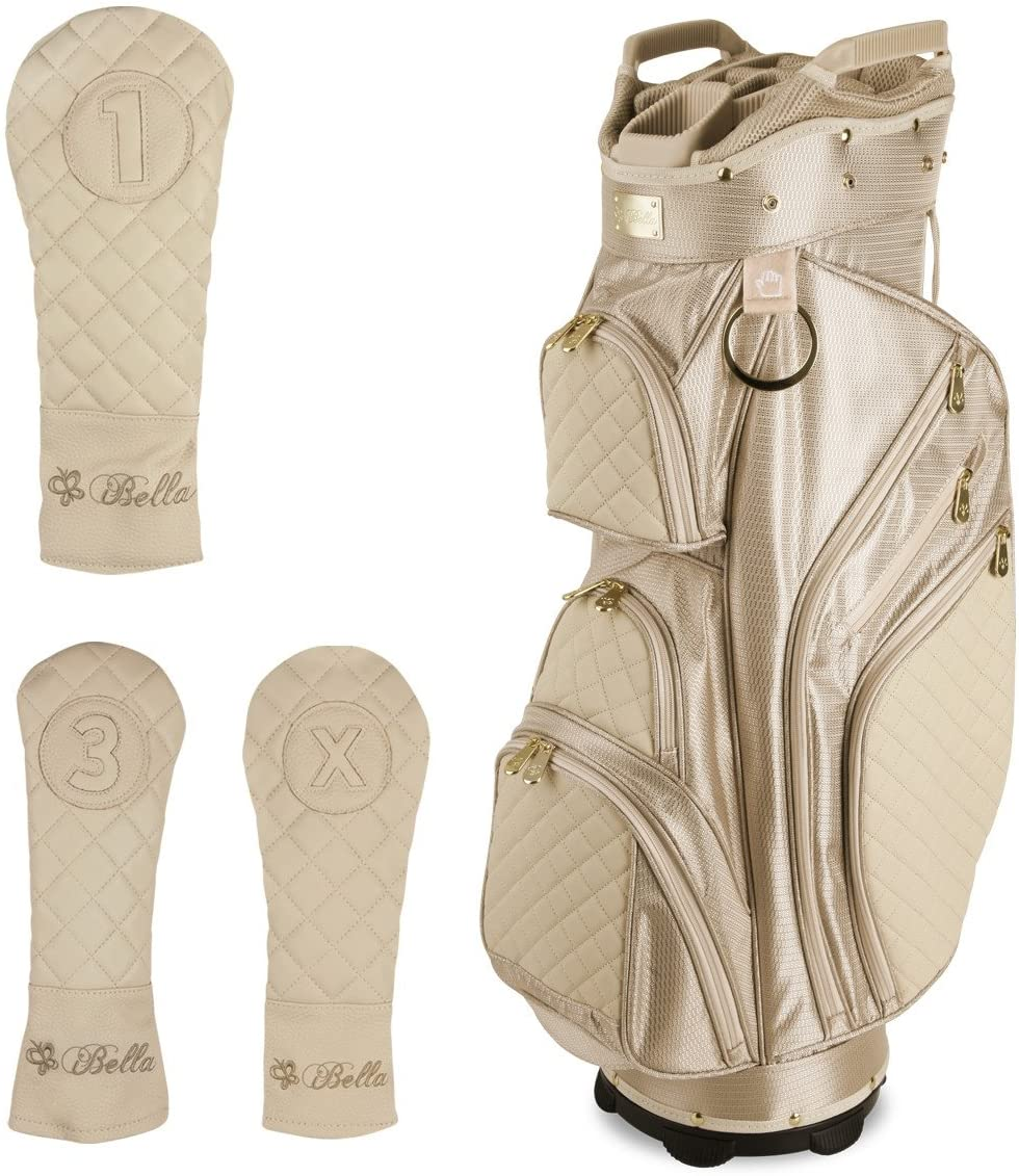iBella Tan Ladies Golf Cart Bag